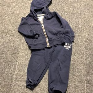 Carter's navy blue 2T sweatsuit-jacket and pants